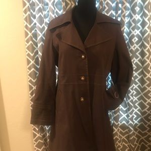 Via Spiga brown lined 3/4 jacket, size XL